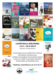 Lauritsala kirjoissa_näyttely_2019_kuva